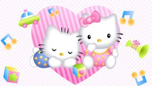 bonjour wallpaper kitty bureau