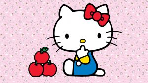 tapet Hello Kitty