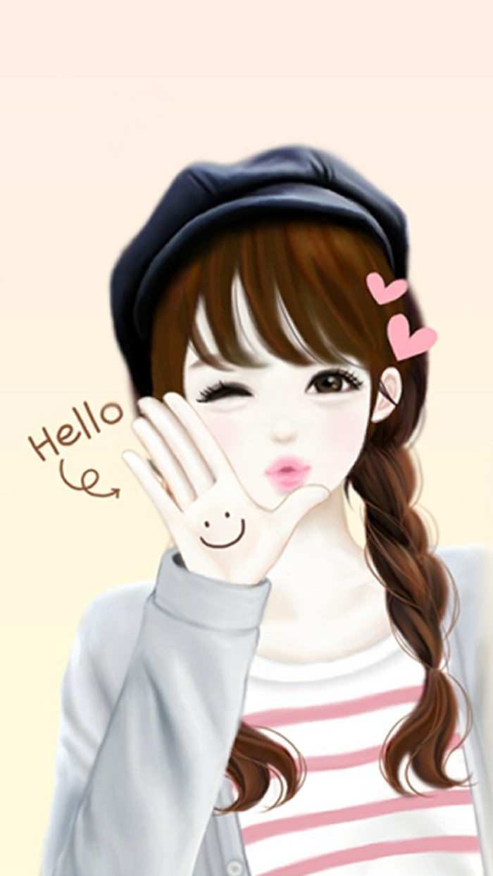 Korean cute cartoon wallpaper for Home wallpaper korea