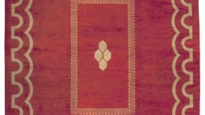 1930s Carpet, mattor, (art deco) tapet