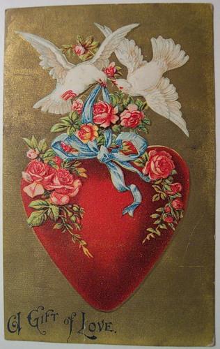 A-Gift-of-Love-Vintage-Valentine-Postcard-wallpaper-wp423353