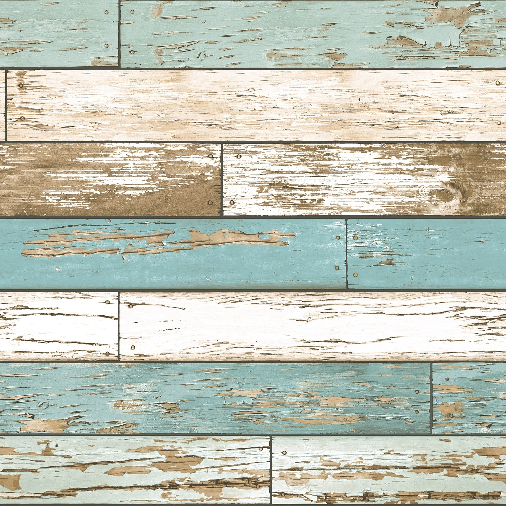 A-Street-Prints-Scrap-Wood-Weathered-wooden-planks-with-a-flaking-cream-and-teal-paint-e-wallpaper-wp5803241