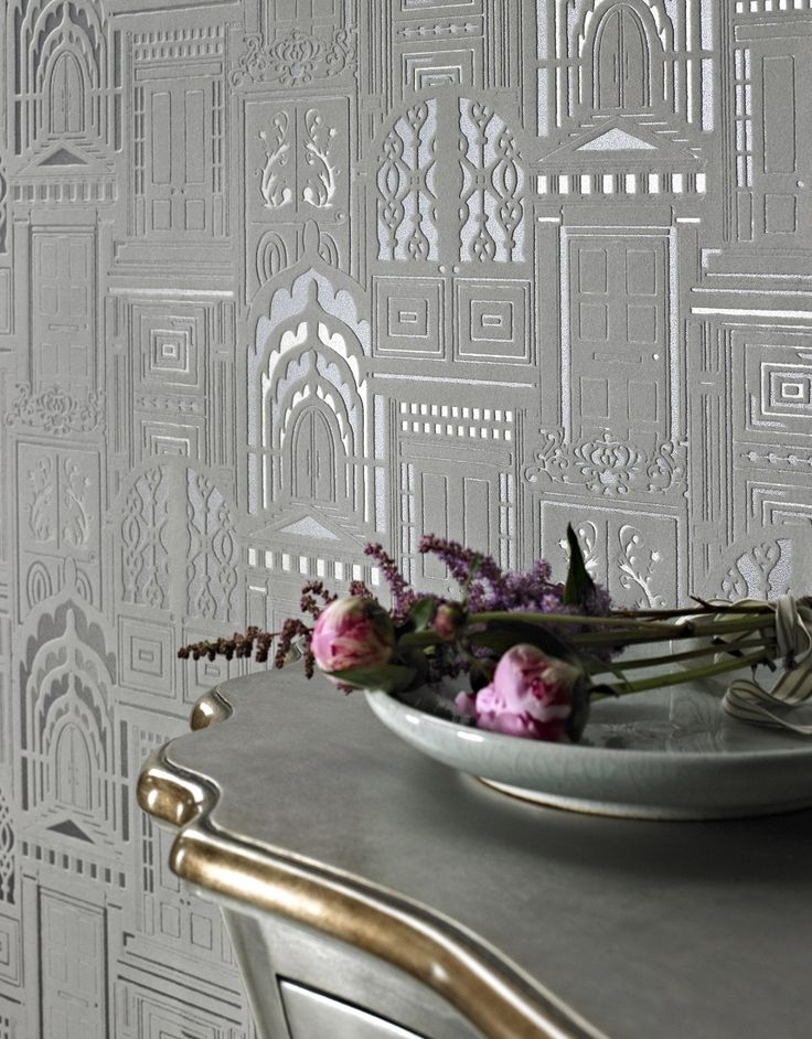 A-beautiful-true-flock-design-with-ornate-doors-on-a-metallic-background-by-Sophie-Conran-wallpaper-wp4603365