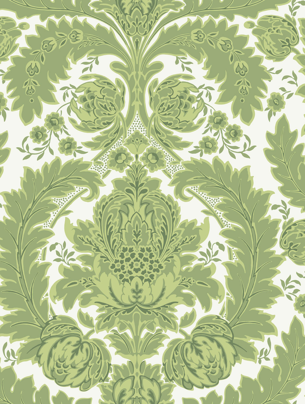 A-graceful-pattern-arrangement-of-leaves-and-budding-flowers-makes-up-this-very-handsome-damask-wall-wallpaper-wp423355