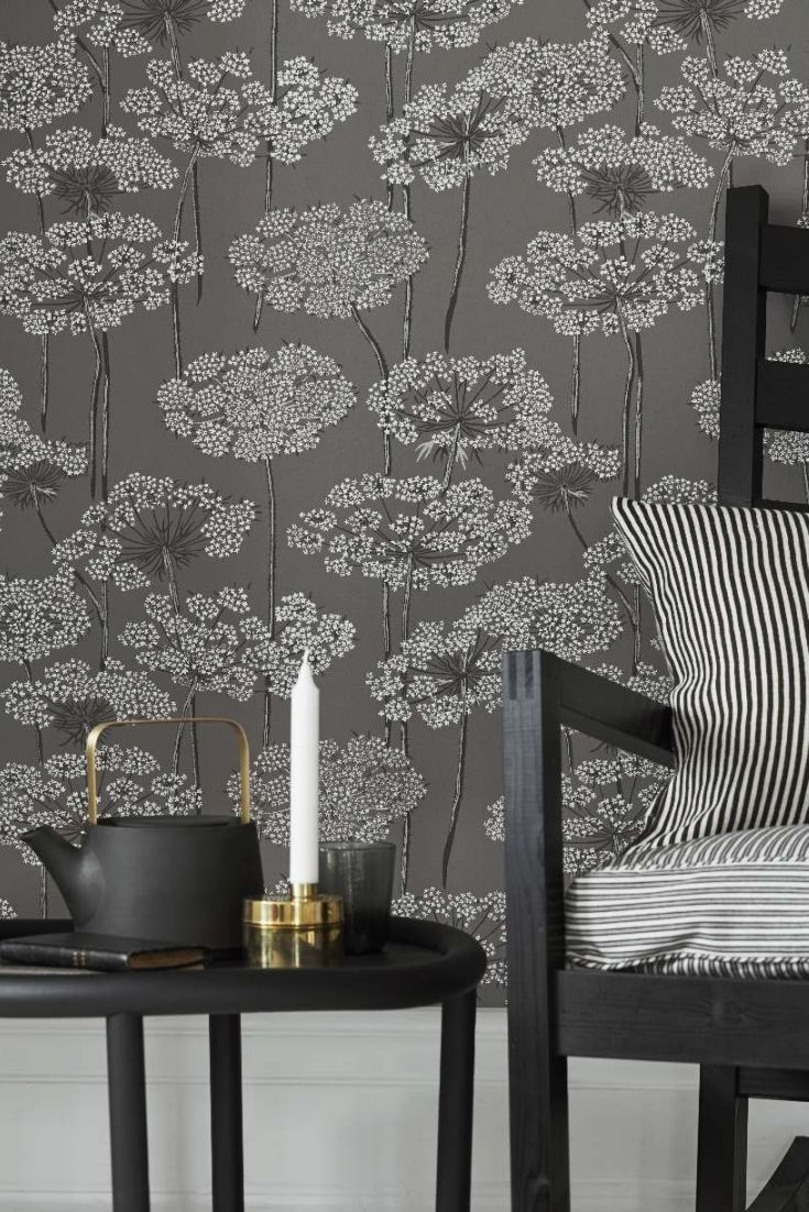 A-lovely-design-featuring-beautiful-illustrations-of-cow-parsley-in-pretty-grey-wallpaper-wp423364