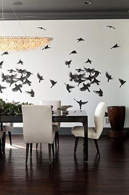 A-photograph-of-a-flock-of-birds-is-used-as-a-wall-mural-in-the-dining-room-a-great-substitute-for-wallpaper-wp5203679