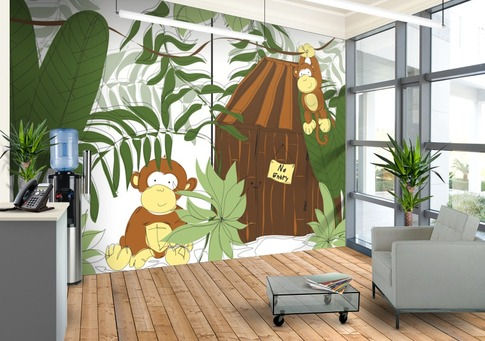A-playful-design-for-your-kids-feature-wall-called-Little-Monkeys-Playhouse-wallpaper-wp5004211