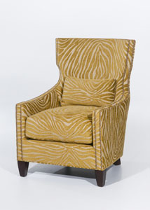 A-sleek-modern-chair-silhouette-in-a-citrine-colored-faux-bois-chenille-fabric-wallpaper-wp6001861
