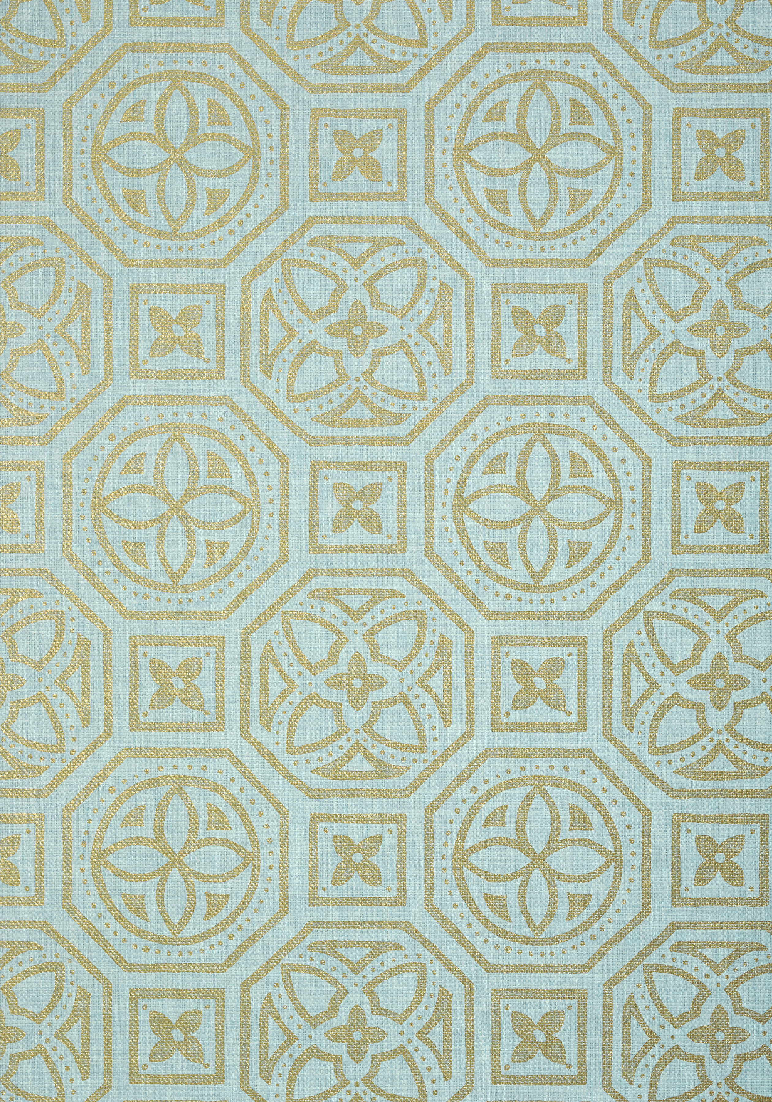 ALEXANDER-Metallic-Gold-on-Blue-T-Collection-Natural-Resource-from-Thibaut-wallpaper-wp3003070