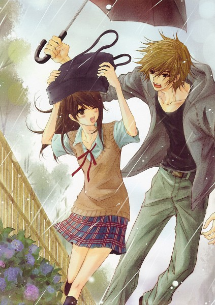 ANIME-ART-anime-couple-romantic-love-sweet-caught-in-the-rain-umbrella-s-wallpaper-wp4603092-1