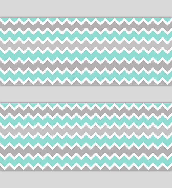 AQUA-GRAY-CHEVRON-Border-Decal-Wall-Art-Nursery-Decor-Blue-Mint-Green-Grey-Stickers-Room-B-wallpaper-wp5204174