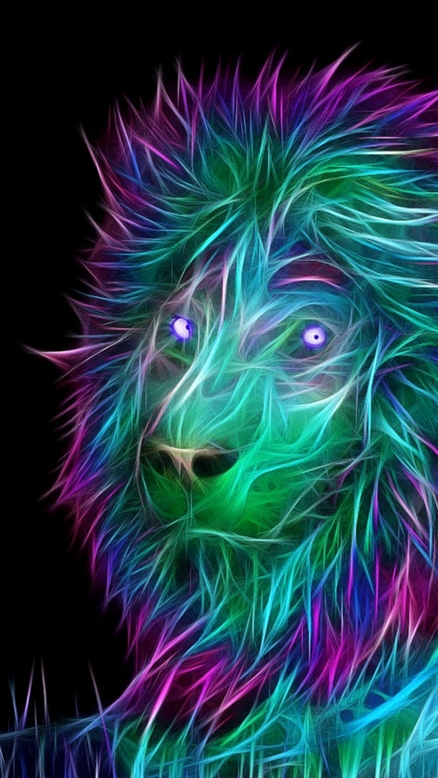 Abstract-D-Art-Lion-Colorful-Hair-iPhone-s-wallpaper-wp423394-1