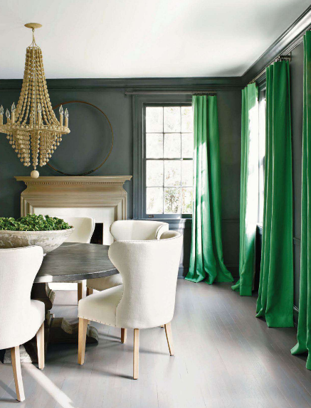 Add-a-spash-of-colour-with-Pantone-emerald-green-as-curains-in-a-monocromatic-room-wallpaper-wp3003004