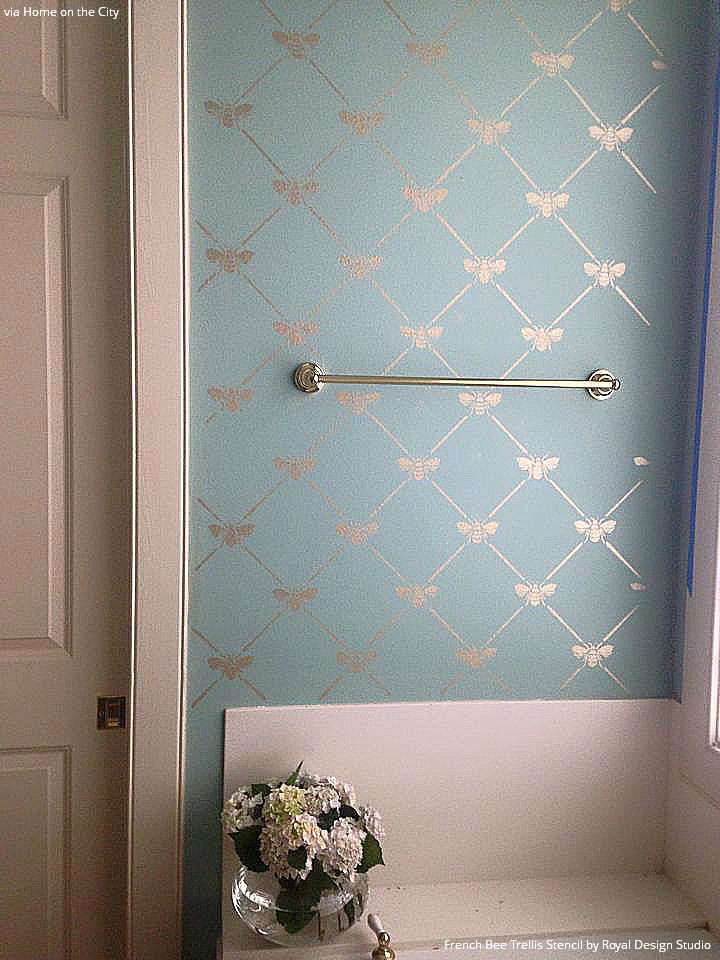 Add-a-touch-of-French-elegance-to-your-wall-with-our-French-Bee-Trellis-Wall-Stencil-This-allover-d-wallpaper-wp5004318