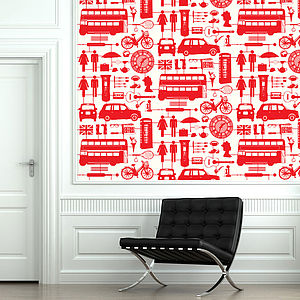 Airfix-London-Red-On-Cream-wallpaper-wp3003047