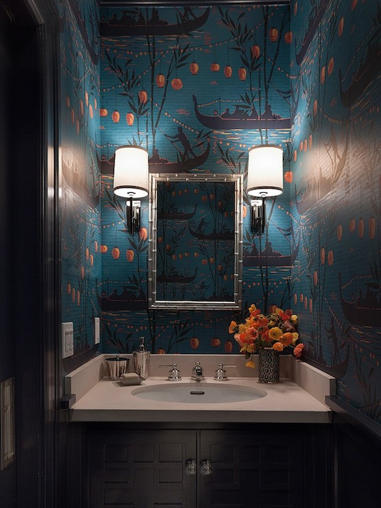 Ann-Lowengart-Interiors-bathrooms-teal-and-orange-chinoiserie-chinoiserie-wallpaper-wp423689-1