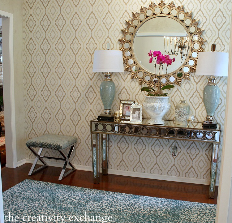 Another-view-of-the-entryway-papered-by-Cyndy-Aldred-with-the-Candice-Olson-Diva-pattern-ND-wallpaper-wp423700-1