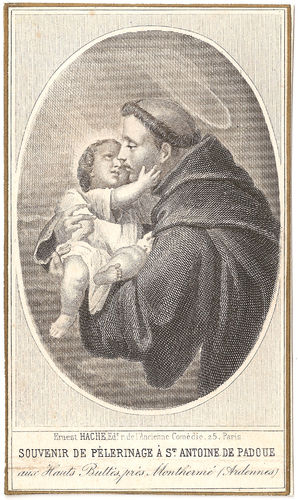 Antique-Vintage-French-Holy-Prayer-Card-with-Engraving-St-Anthony-of-Padua-items-in-The-Paper-Attic-wallpaper-wp5803571-1