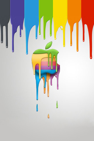 Apple-Logo-Dripping-Paint-wallpaper-wp6002044