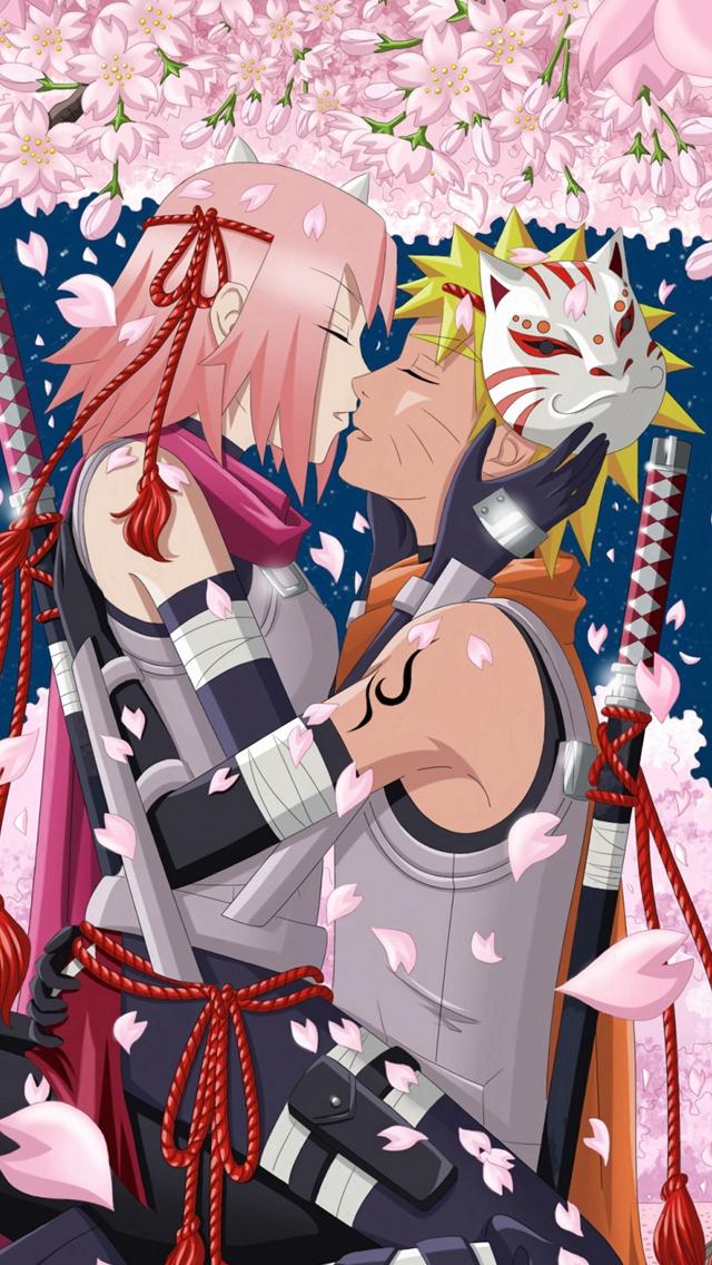Art-Hanabi-Rin-Anime-Naruto-Uzumaki-Naruto-Haruno-Sakura-Girl-Man-Night-Moon-Trees-Cherry-iPhone-wallpaper-wp423759-1