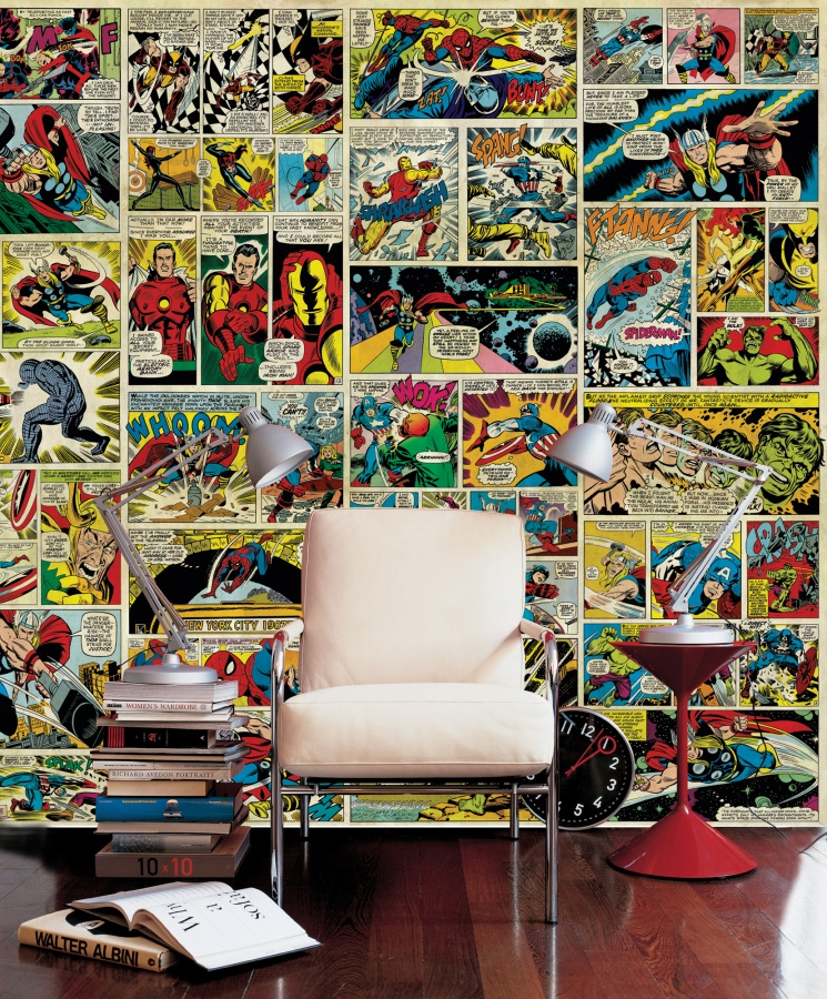 Avenger-Comic-Strip-Wall-Mural-Photo-Photowall-wallpaper-wp5403445