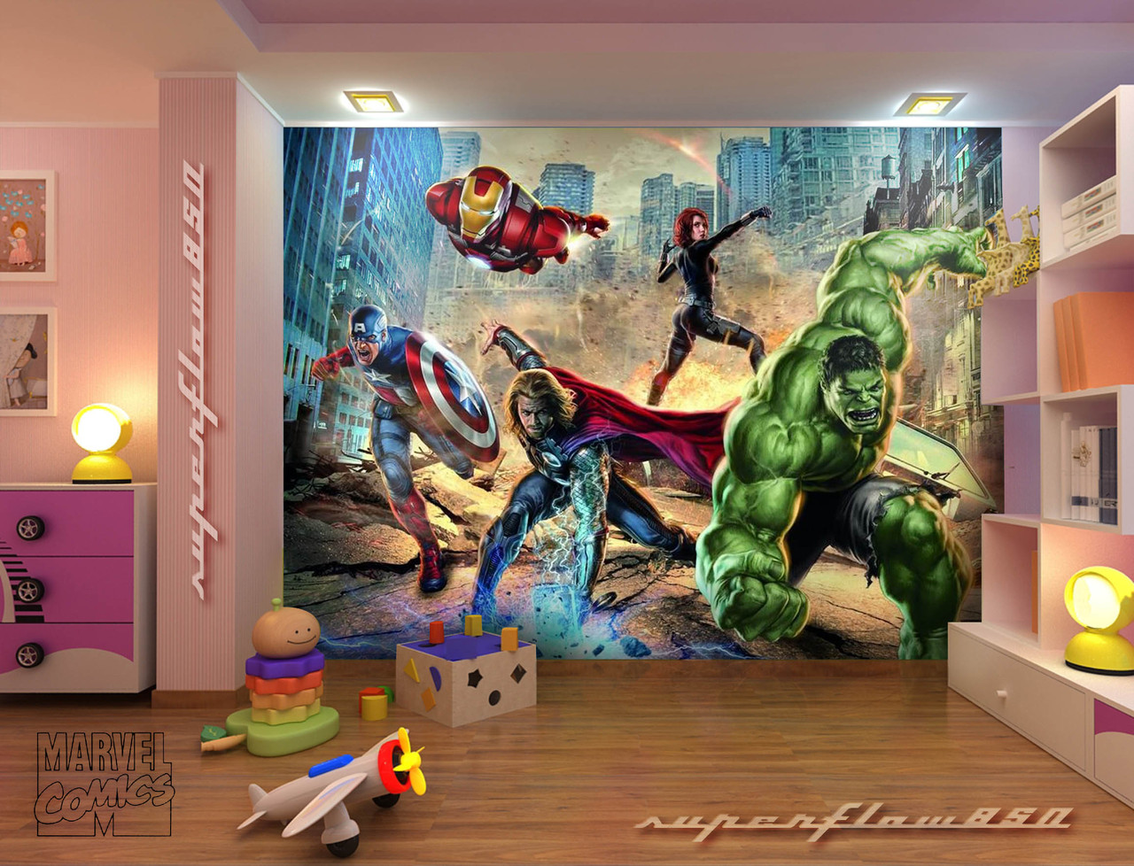 Avengers-Mural-Love-this-My-boys-room-has-Ninja-turtles-Power-rangers-Avengers-haha-each-wal-wallpaper-wp5803706
