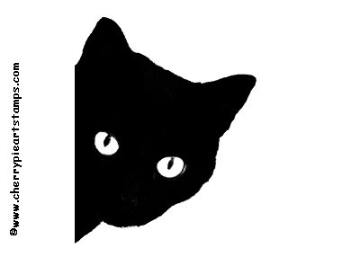BLACK-CAT-rubber-stamp-silhouette-cat-face-CLiNG-STAMP-by-Cherry-Pie-Art-Stamps-wallpaper-wp5403716