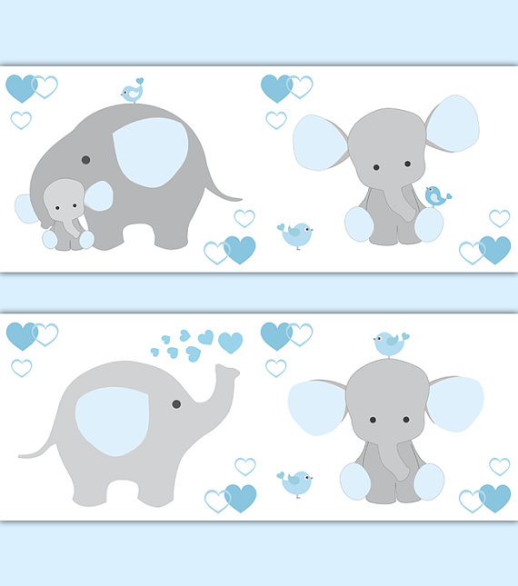 BLUE-GREY-ELEPHANT-Nursery-Baby-Boy-Border-Wall-Art-Decal-Gray-Stickers-Decor-Neutral-Safa-wallpaper-wp520189