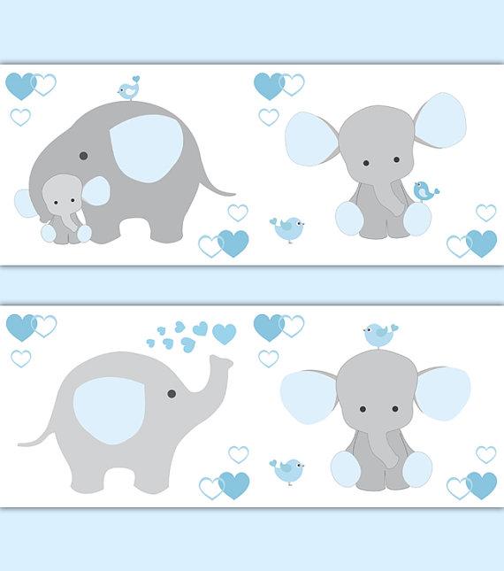 BLUE-GREY-ELEPHANT-Nursery-Baby-Boy-Border-Wall-Art-Decal-Gray-Stickers-Decor-Neutral-Safa-wallpaper-wp5204736