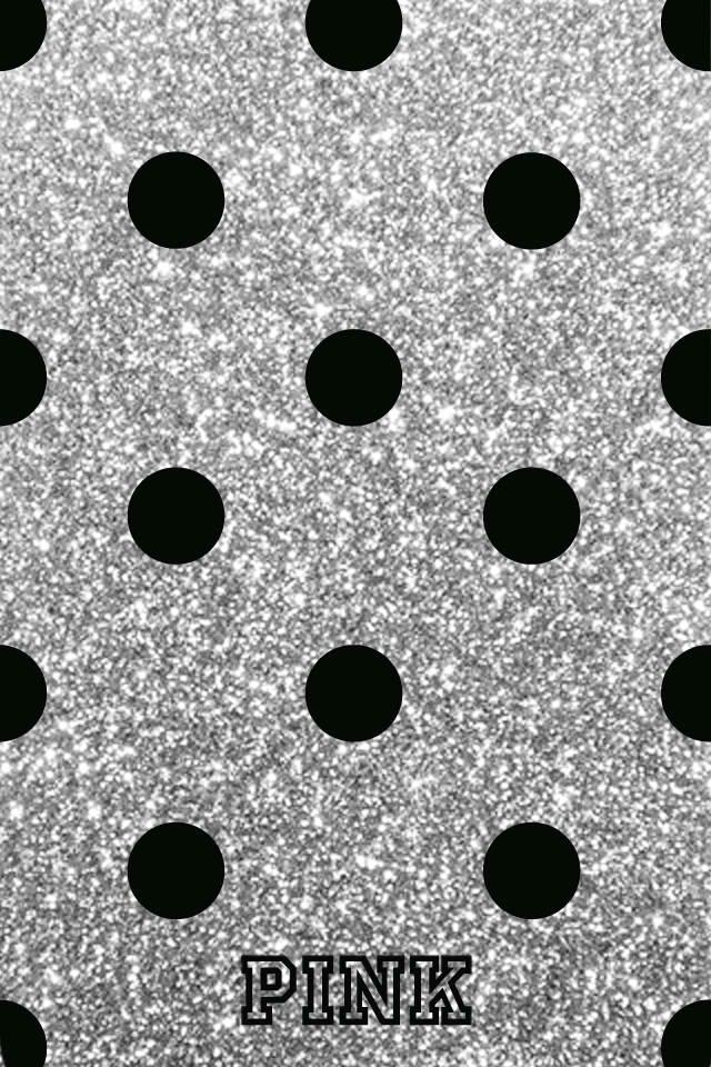 Background-wallpaper-phone-paper-bag-girly-Victorias-Secret-VS-grey-gray-black-polka-dot-wallpaper-wp4804488