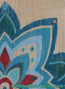 Bamboo-Matchstick-Blinds-repurposed-into-painted-design-wall-hanging-decoration-wallpaper-wp3003469