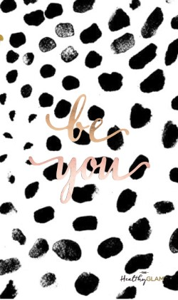 Be-you-gold-Polka-dots-iphone-wallpaper-wp4604088