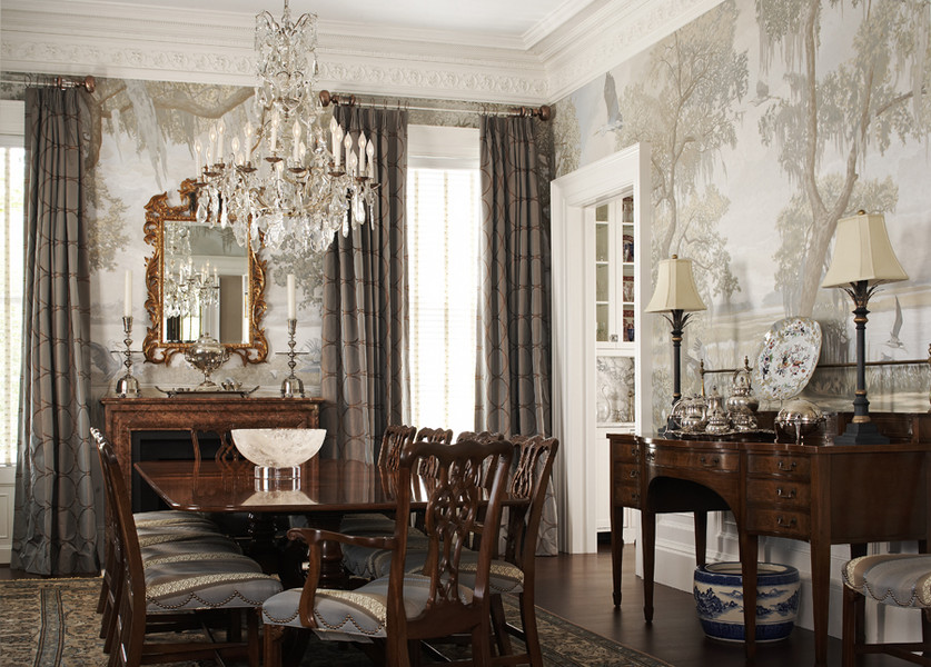 Grisaille wallpaper for Dining room mural wallpaper