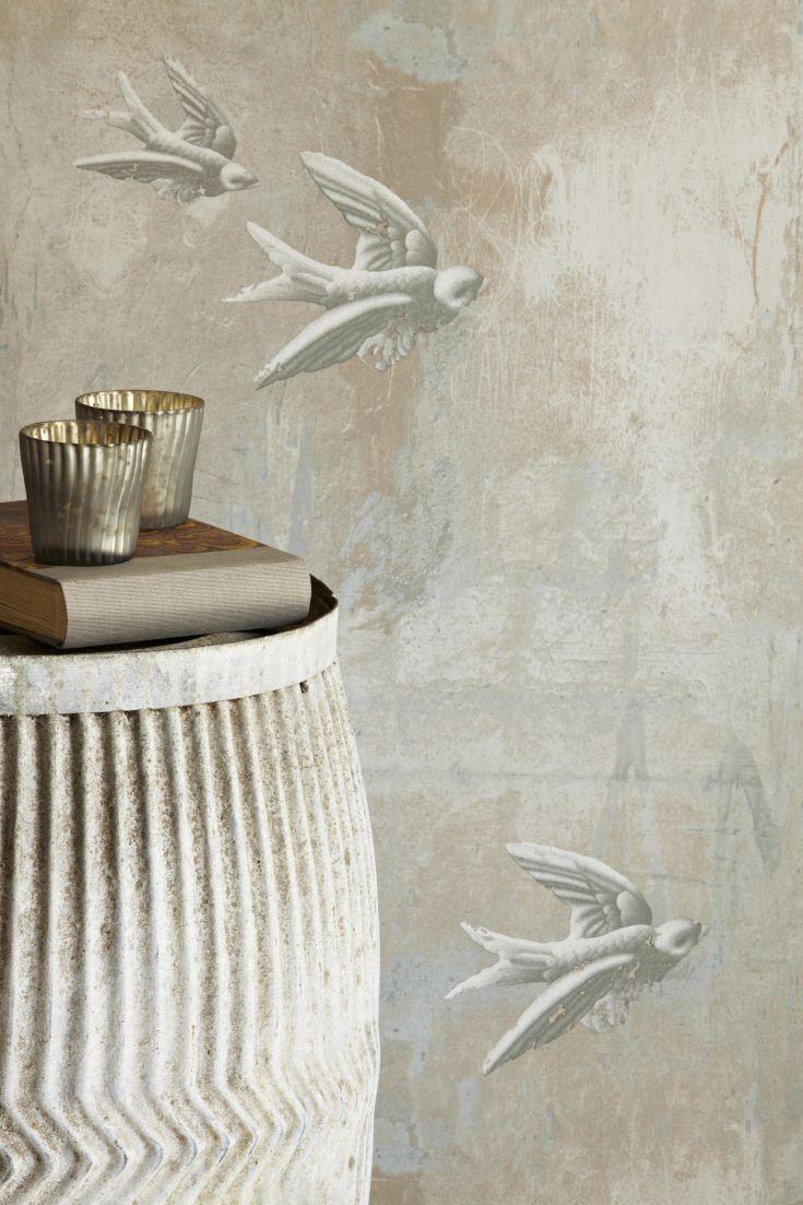 Beautiful-Fresco-Birds-design-by-Barneby-Gates-wallpaper-wp5005122