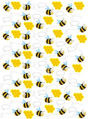 Bee-Pattern-Art-Illustration-wallpaper-wp4405024