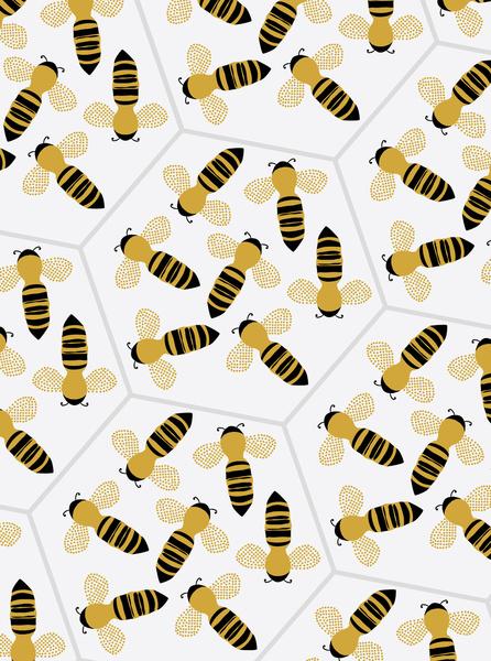 Bee-pattern-Georgiana-Paraschiv-wallpaper-wp4405023