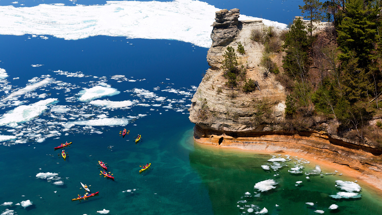 Best places to travel in at picture rocks kayakers prepare for Best places to take a vacation
