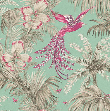 Bird-of-Paradise-Fuchsia-Jade-by-Matthew-Williamson-wallpaper-wp5005264