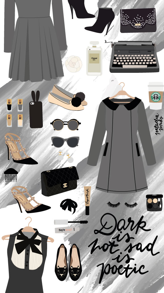 Black-Designer-Chanel-iPhone-Lock-PanPins-wallpaper-wp4405137