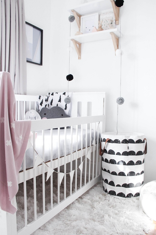 Black-and-white-nursery-with-hints-of-pink-wallpaper-wp5005283