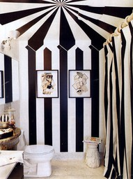 Black-and-white-striped-tent-bathroom-wallpaper-wp6002391