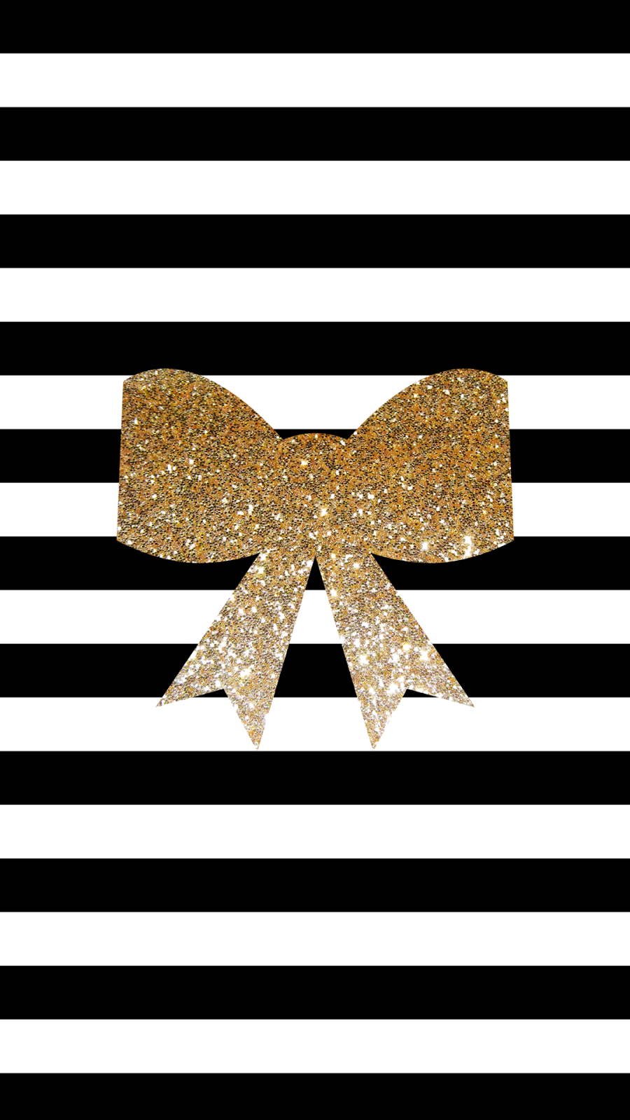 Black-and-white-stripes-a-gold-bow-wallpaper-wp5005284