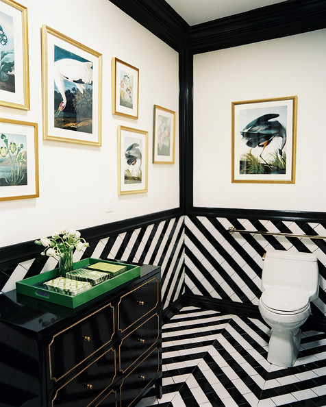 Black-and-white-tile-paired-with-a-Dorothy-Draper-inspired-cabinet-wallpaper-wp5204670