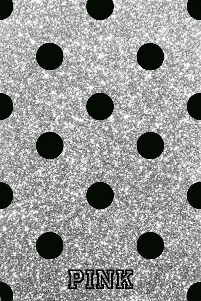 Black-polka-dots-with-a-silver-background-wallpaper-wp3003748