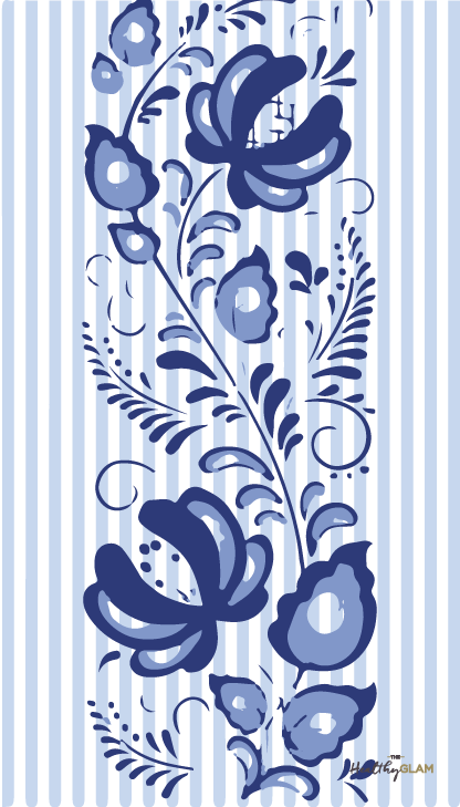 Blue-stripes-embroidered-flowers-phone-wallpaper-wp4604336