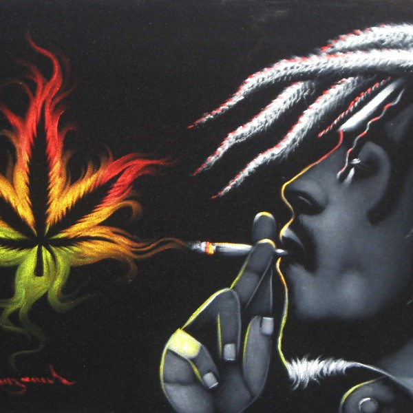 Bob-Marley-smoking-weed-joint-spliff-Original-Oil-Painting-Art-wallpaper-wp4405256