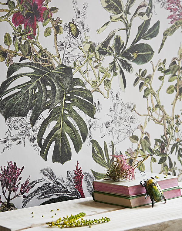 Bring-a-world-of-colour-into-your-home-with-the-Tropical-Bloom-This-mural-like-wallcoveri-wallpaper-wp3003910