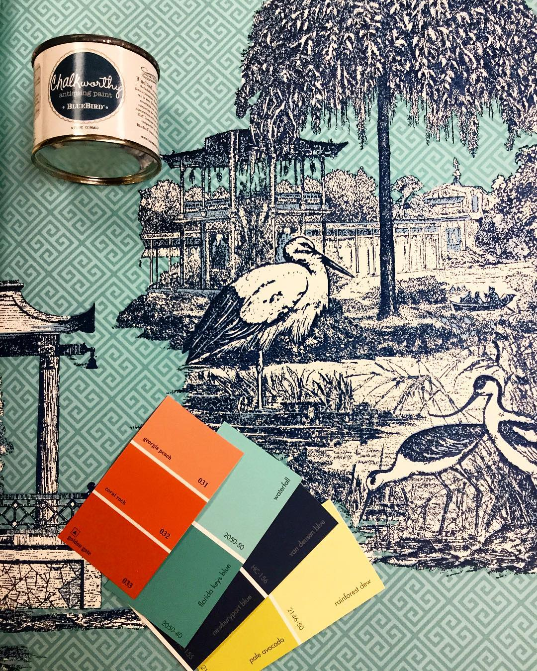 Buhrmester-Paint-on-Instagram-%E2%80%9CBirds-of-a-feather-flock-together-in-this-Asian-inspired-setting-wallpaper-wp424290