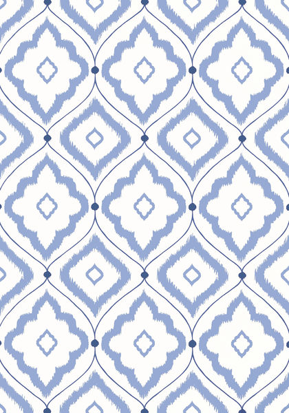Bungalow-in-blue-from-the-Resort-collection-Thibaut-wallpaper-wp3004008