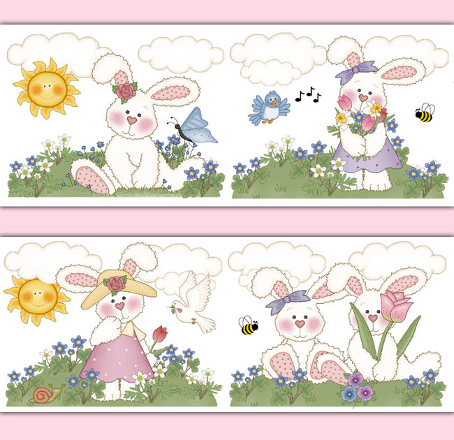Bunny-Nursery-Border-Wall-Art-Decals-Girl-Woodland-Animal-Stickers-decampstudios-wallpaper-wp5204909